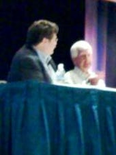Workday CEO Dave Duffield (right) interviewed at SaaScon today by Saugatuck's Bill McNee