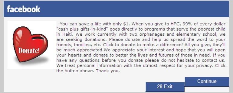 Facebook virus warning: Massive children charity scam