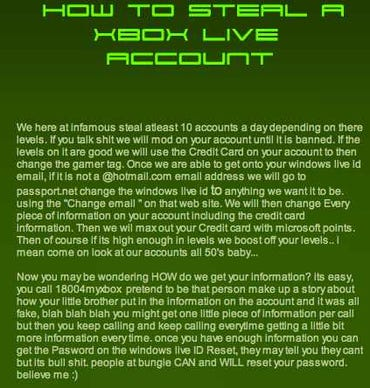 How to steal and XBox Live account