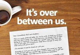 NAB's break-up letter