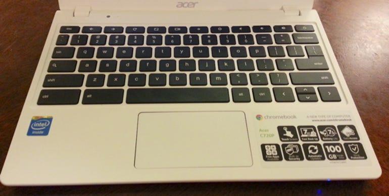 Acer 720P Chromebook keyboard