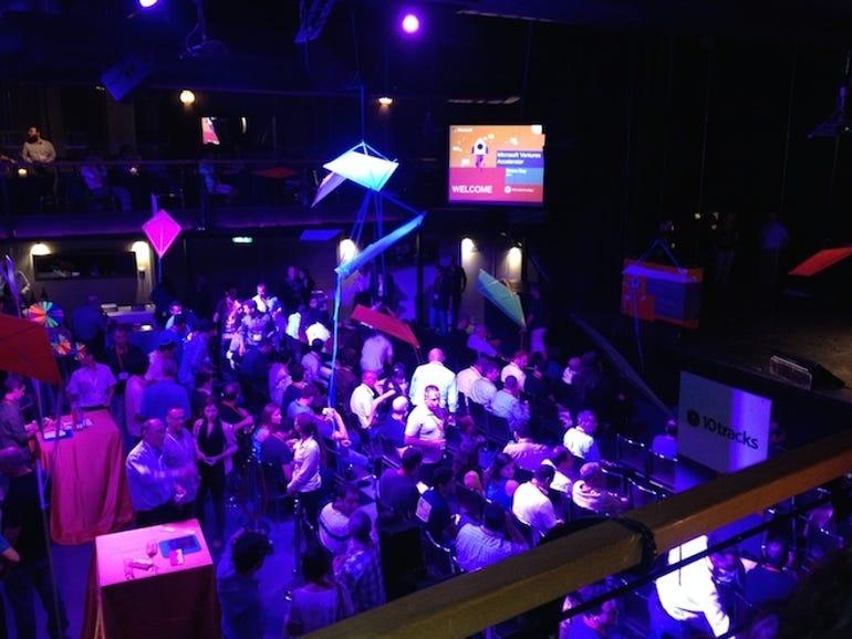 The crowd at Microsoft Ventures Israel Demo Night in Tel Aviv recently