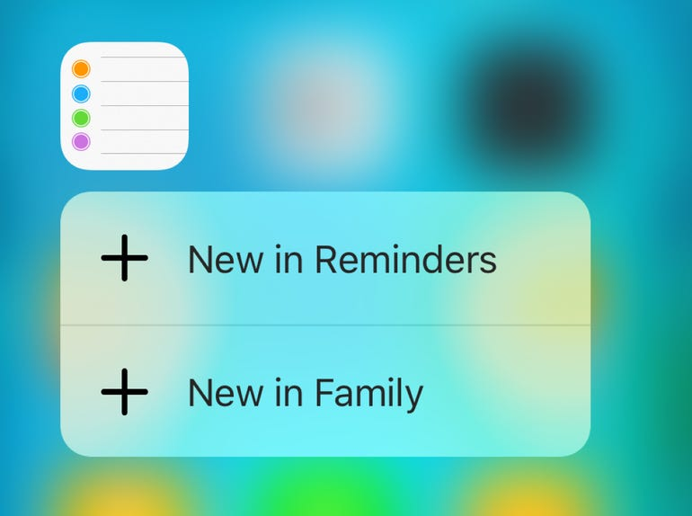 3D Touch for Reminders