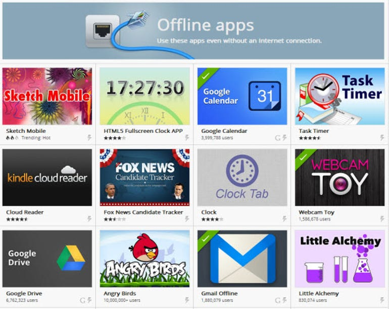 Chrome offline apps