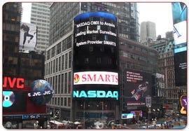 NASDAQ results board