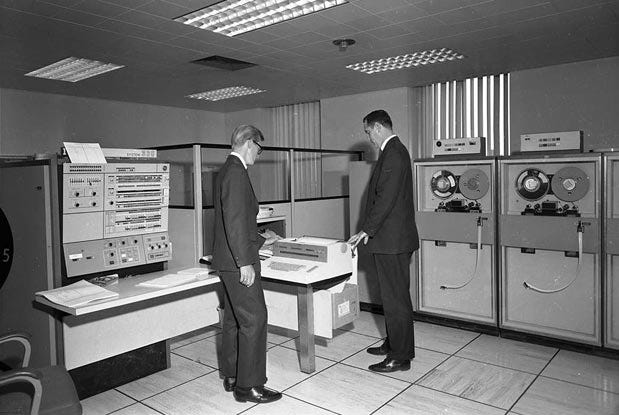 Old data center - high priests of IT