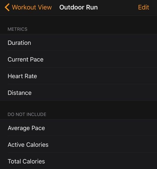 Customize Workout display
