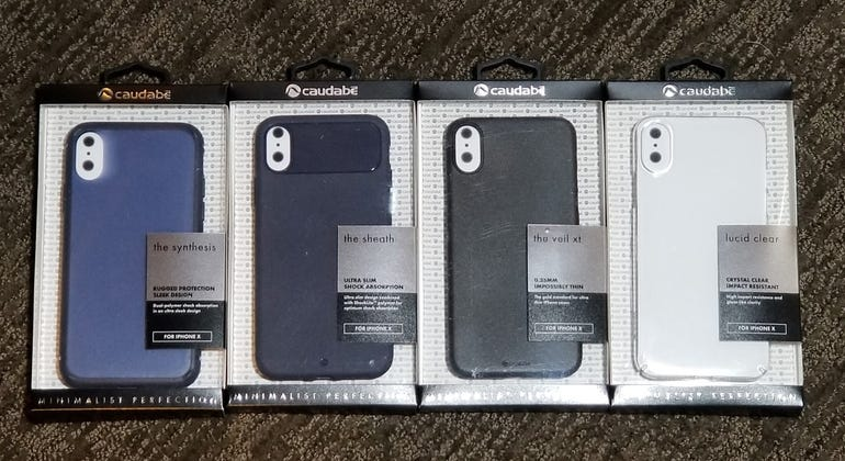 Four Caudabe cases for the Apple iPhone X