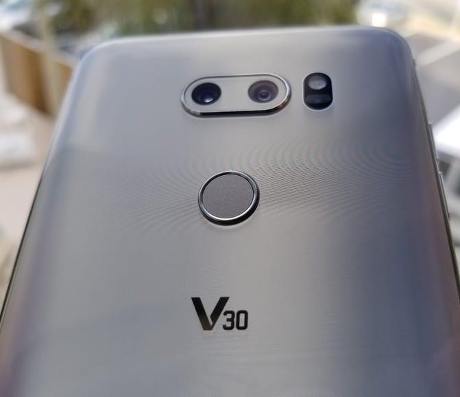 Back of the LG V30