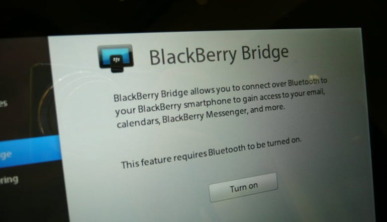 iPad vs PlayBook vs Flyer: The BlackBerry PlayBook doesn't have a native email client