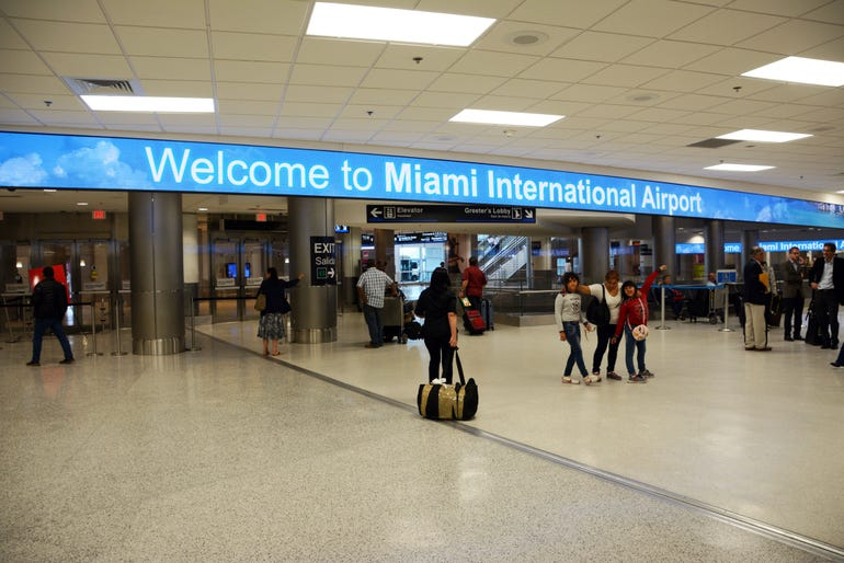 Miami international Welcome Sign
