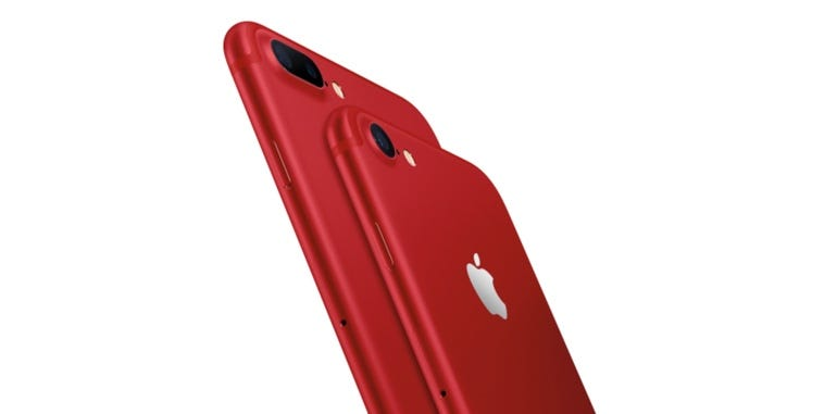 ​iPhone 7 and iPhone 7 Plus (PRODUCT)RED Special Edition.