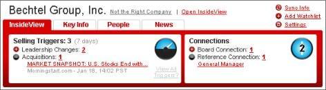 Screenshot of InsideView application