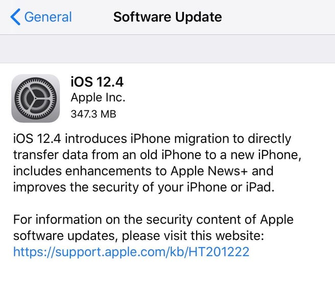 Just installed iOS 12.4?