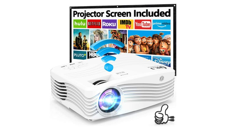 Dr J AK-50 Projector review stereo sound and 300 inch projection zdnet