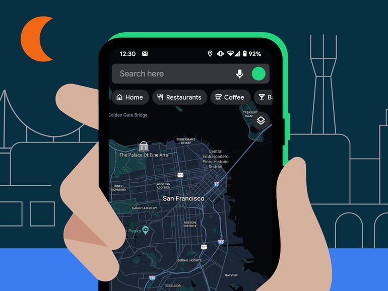 Google adds dark mode to Google Maps, scheduling to Messages and more   ZDNet