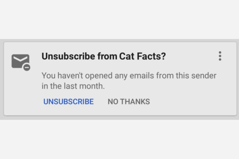 Unsubscribe suggestions