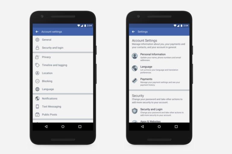 Privacy Shortcuts menu