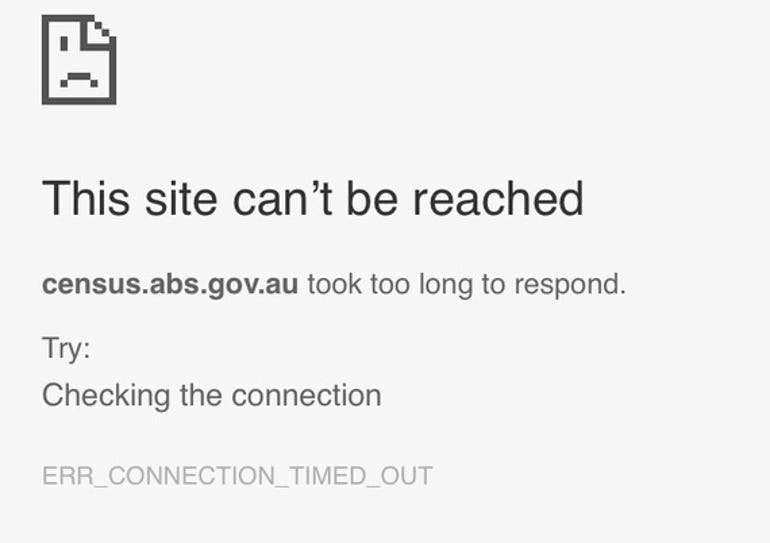 ABS Census 2016 Outage