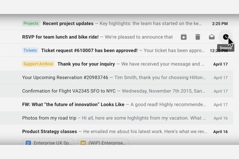 Fresh look on Gmail's web app