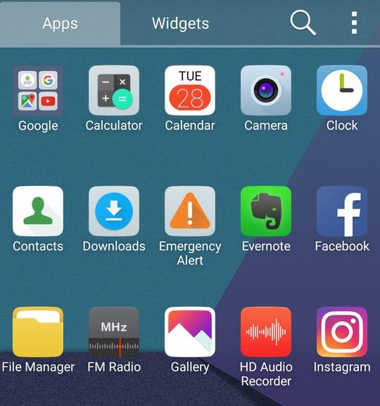 LG UX 6.0 app launcher