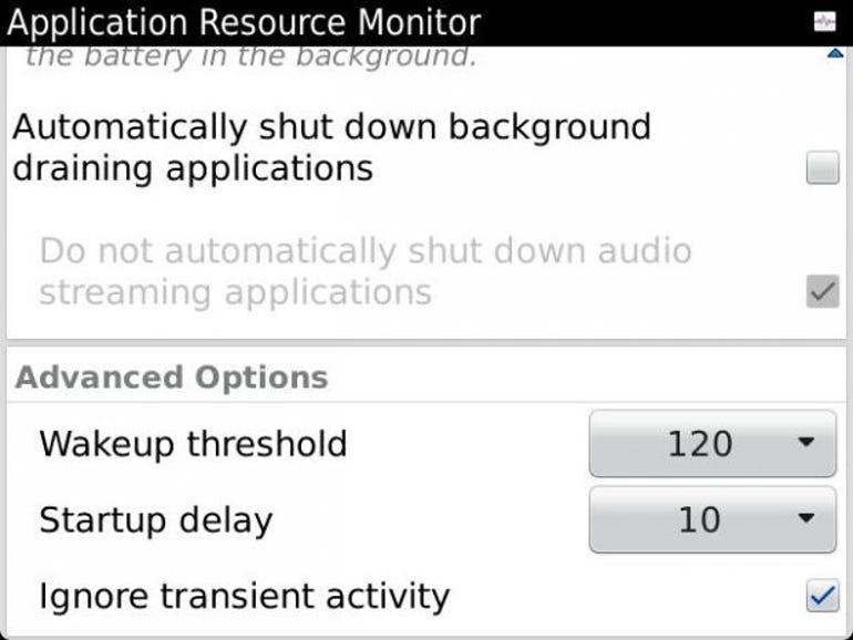 ARM advanced setttings