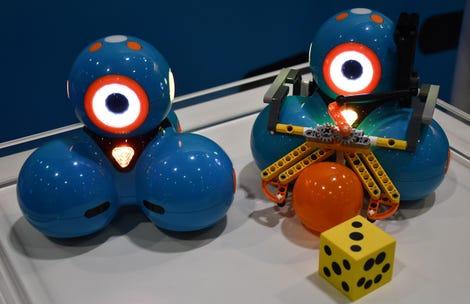 Alien-looking Dash robots