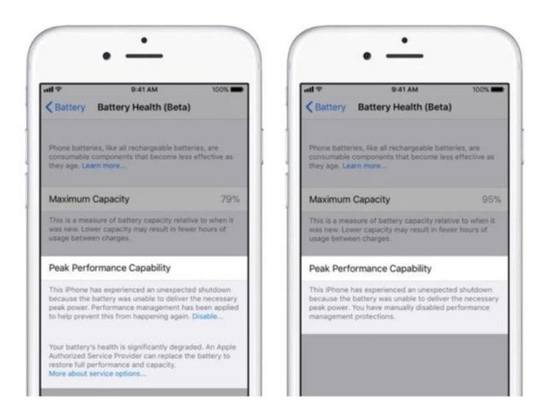Using iOS 11.4 to check battery health