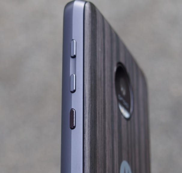 Right side of the Moto Z Force