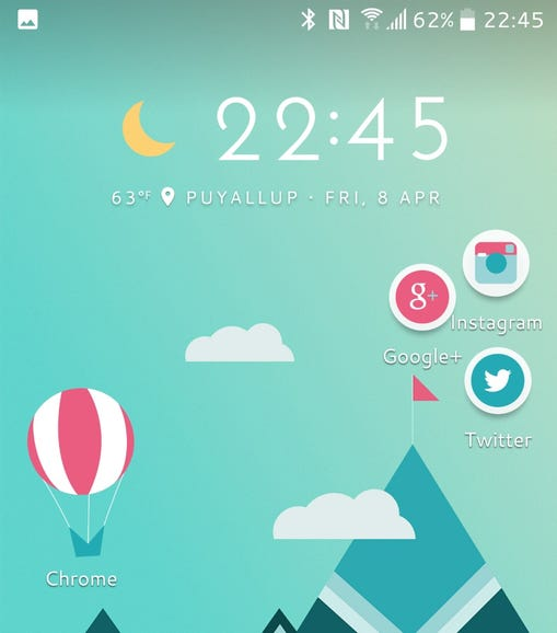 HTC Freestyle home screen panel