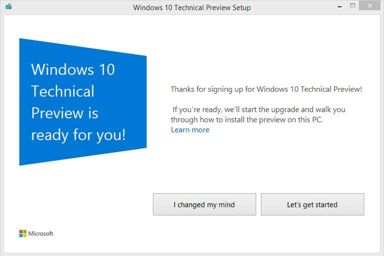 The Windows 10 update runs on Windows 7 or 8.1