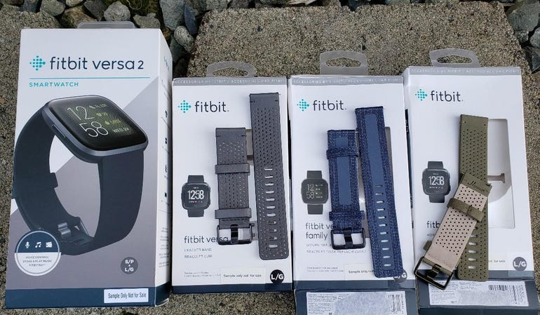 Fitbit Versa 2 and three band options