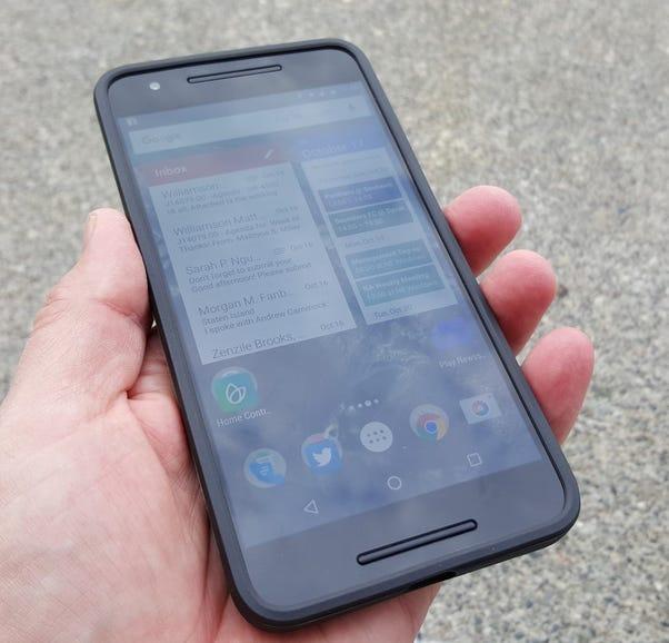 Google Nexus 6P case in hand