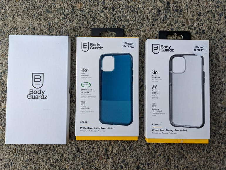 BodyGuardz Avenue, Stack, and Refract cases for the iPhone 12