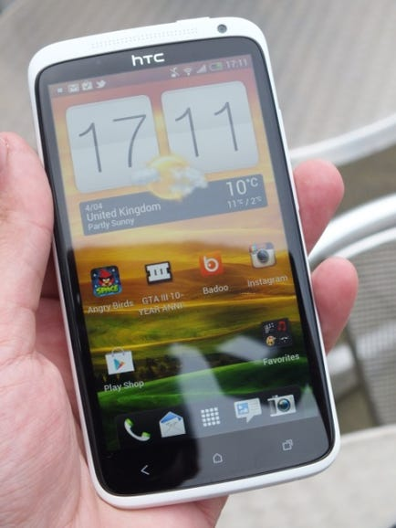 HTC One X from the front