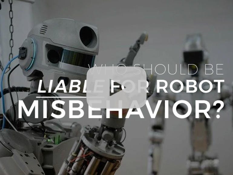 Who should be liable for robot misbehavior?