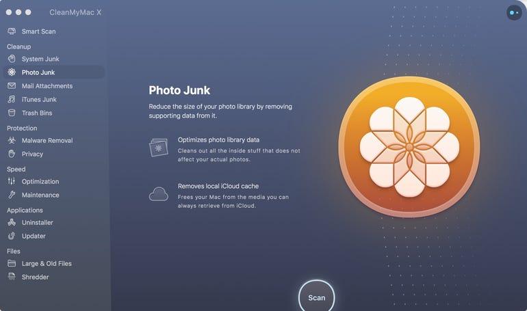 CleanMyMac X - Photo Junk