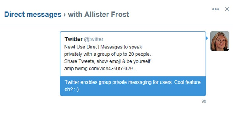 Twitter adds group private messaging and mobile video camera to its platform ZDNet