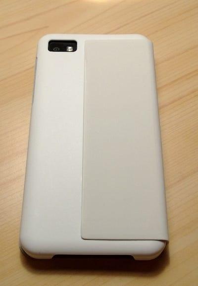 Back of white Flip case