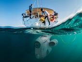 This lightweight underwater camera drone takes you deep beneath the waves