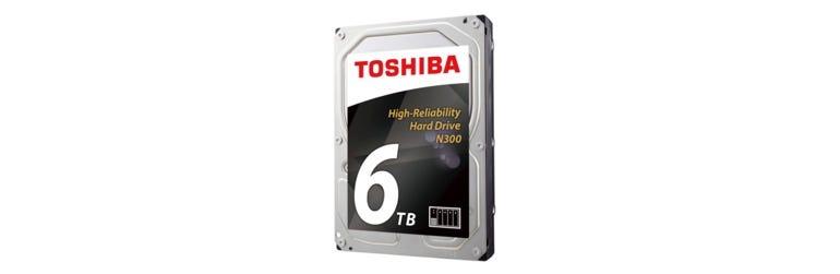 Toshiba 6TB N300 high-reliability hard drive