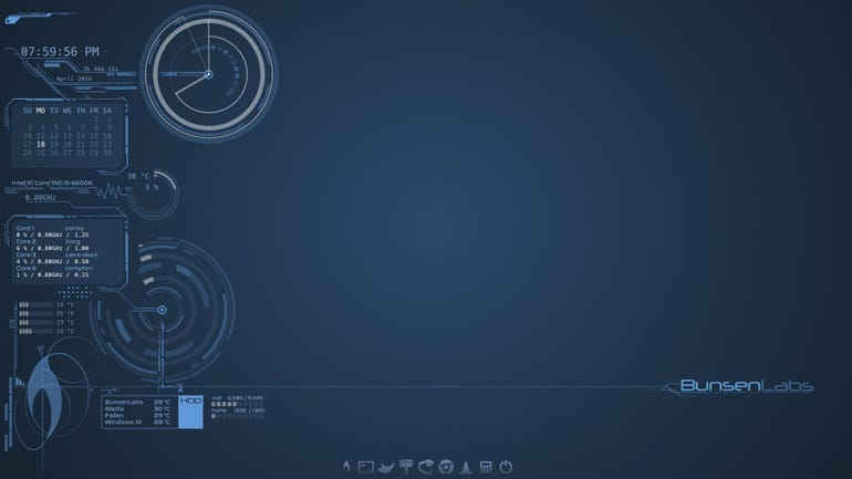 BunsenLabs Linux Helium - 600MB to 1.2GB download