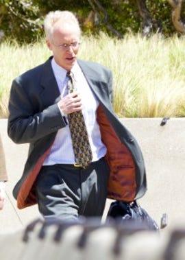 Tim LIndholm leaving the courthouse on Thursday. Credit: James Martin, CNET