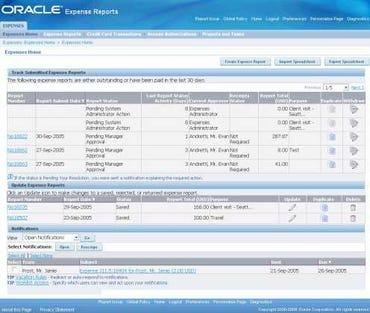 Expenses UI Oracle R12