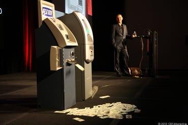ATM spewing cash