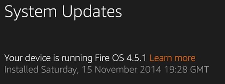 Amazon Fire OS 4.5.1