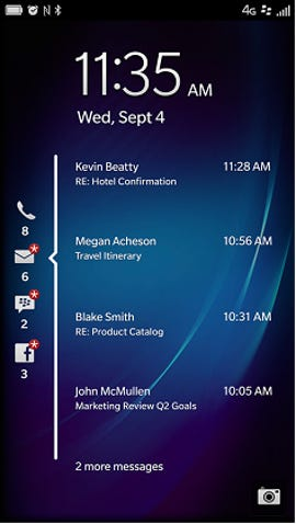 Lock screen notifications in 10.2