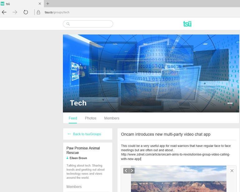 Tsu social network beta tests groups to bring communities to the platform ZDNet