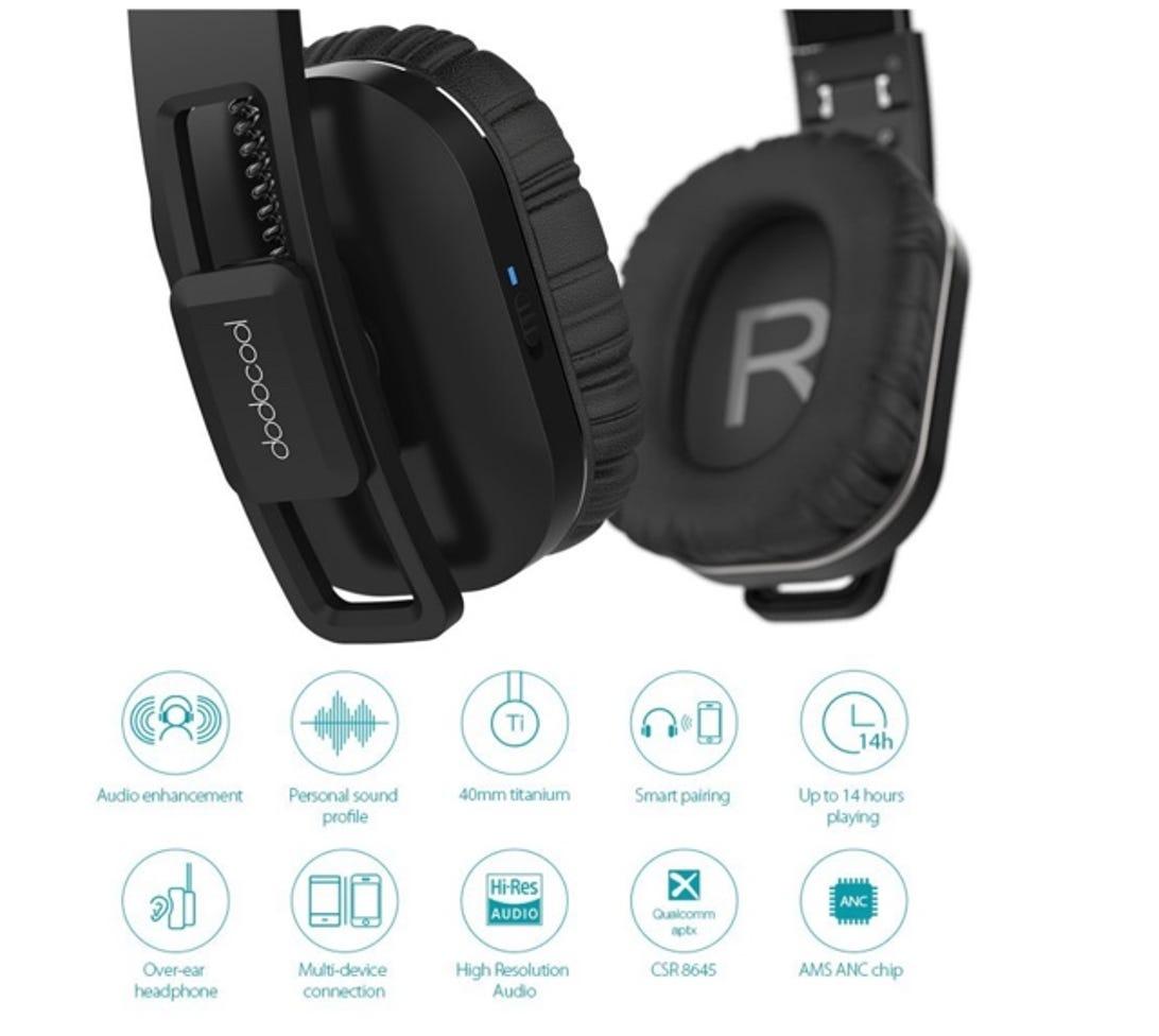 dodocool Active Noise Cancelling Bluetooth headphones