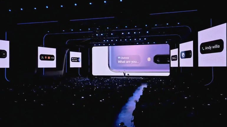 Here is more staging from the Samsung event.